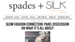 Slow Fashion Connection: Panel discussion on what it's all about